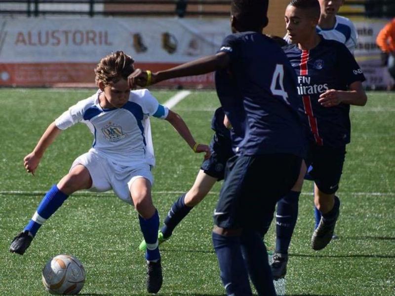 Kristian Arnstad mot PSG for NF Selection U13 i Ibercup