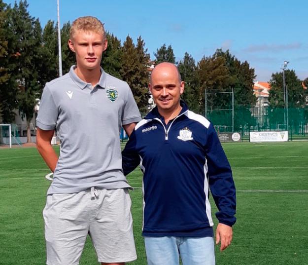 August Frobenius, som er tidligere NF Academy deltaker, stilte opp for å inspirere unge talenter under NF Elite Training Camp i Portugal denne høsten