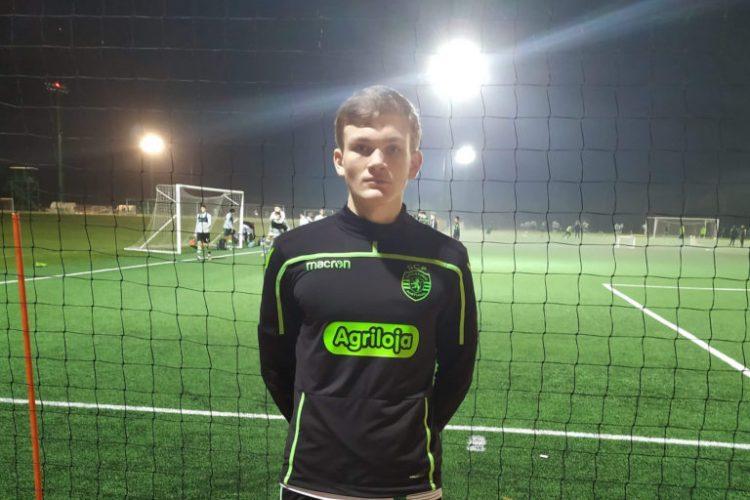 PRØVESPILL I SPORTING: 15 år gamle Bendik Foss Evensen imponerte under NF Academys vintertreninger. Det ga ham en unik mulighet til å trene med Sporting Academy.