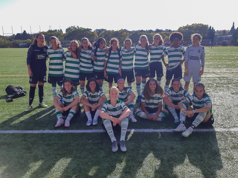 NF Academy Cille Nilsen trianing with Sporting CP