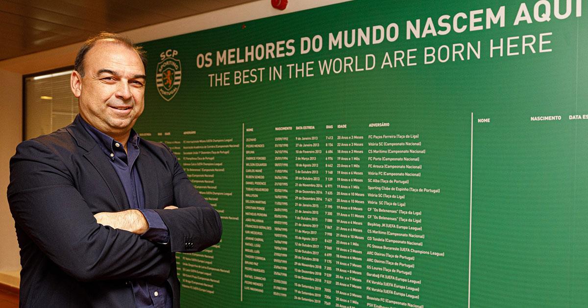 Paulo Gomes fra Sporting CP håper at samarbeidet vil fordelaktig for både NF Academy og Sporting CP