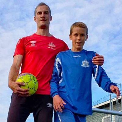 VIKTIG STØTTESPILLER: For Kristian har støtten fra pappa Trygve Lorentzen vært en viktig faktor så langt i karrieren