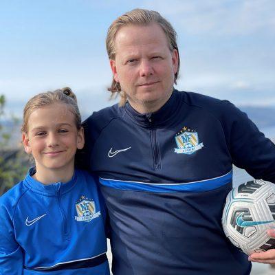 Rune Bjørnødegård og sønnen Sindre Bjørnødegård mener NF camper gir et godt treningsutbytte.