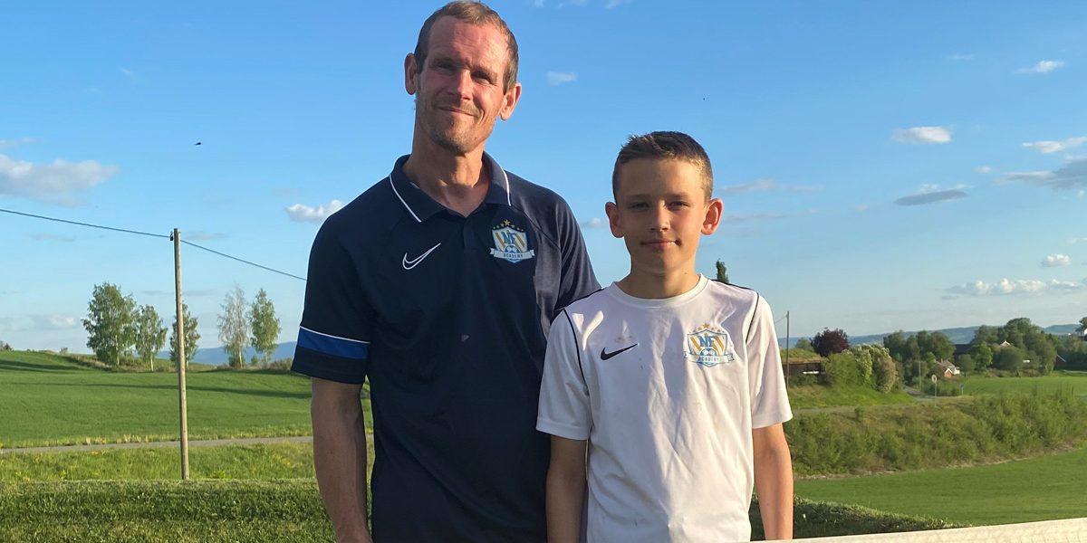 Rune Buer Johansen sammen med sin sønn Jørgen Bolstad Buer som er en ivrig NF deltaker