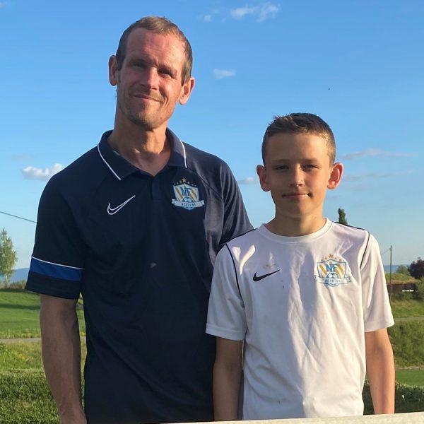 Rune Buer Johansen sammen med sin sønn Jørgen Bolstad Buer